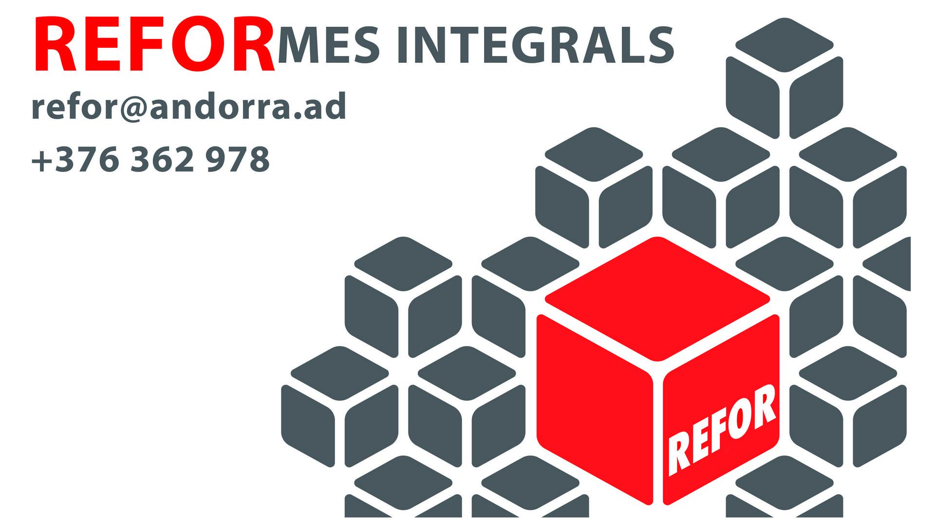 REFOR ANDORRA REFORMES INTEGRALS ANDORRA Reformes integrals d'habitatges. Serveis de disseny de mobiliari i d'interiors. Fem reformes de banys, dissenys des dels clàssics fins a les últimes tendències en banys. Serralleria, Pintura, Fusteria, Il·luminació, Banys, Cuines i Electrodomèstics. REFORMES INTEGRALS ANDORRA reformes Integrals, construccions i manteniments d'habitatges, locals, cuines, banys, etc., Treballs de reformes integrals. Reformes de cuines, reformes de banys, reformes integrals, reformas de cocinas, reformas de baños, reformas integrales, muebles cocina, muebles cocina, mobiliari a mida. AMPLIA EXPERIENCIA EN REFORMAS INTEGRALES DE VIVIENDAS  Si necesitas realizar la obra de reforma integral de tu vivienda en Andorra  con la firmeza y confianza de convertirla en el hogar de tus sueños y no en una horrible pesadilla, desde Arquitectos e Interioristas Causa Estudi Andorra te ofrecemos nuestra experiencia y profesionalidad a la hora de realizar reformas integrales de viviendas en Andorra. Invertimos nuestro tiempo y esfuerzo por mejorar día a día y ser capaces de satisfacer todas las necesidades de nuestros clientes en reformas, renovaciones y rehabilitaciones de viviendas. Un esfuerzo y un saber hacer al que hemos llegado después de años de trabajo en reformas integrales de todo tipo de establecimientos, desde Restaurantes hasta tiendas de moda pasando por chalets, apartamentos y pisos en Andorra, siendo esta la parte más importante de nuestro trabajo, convirtiéndonos en una de las principales empresas de reformas del Principado de Andorra .